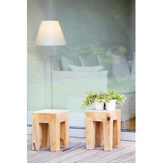 Jan Kurtz Java eckig Teak Massiv Holz Hocker Tischchen Innen