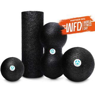#DoYourFitness 4er Set Faszienbälle Mini Faszienrolle & Duo-Ball