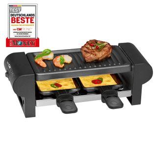 Clatronic RG 3592 2-Personen-Raclette-Grill zum Grillen und Überbacken