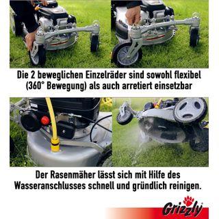 Grizzly Benzin Rasenmäher BRM46 Q 360