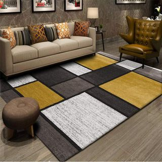 YXISHOME Teppich Moderner Kurzflor Weich Teppiche Geometrisches