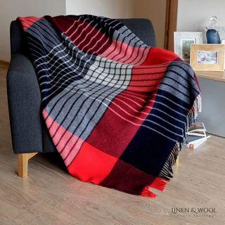 Linen & Cotton Wolldecke Bunt Maori