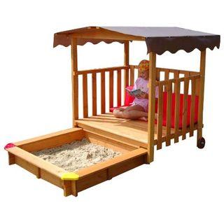 GASPO 310375 Spielhaus mit Sandkasten