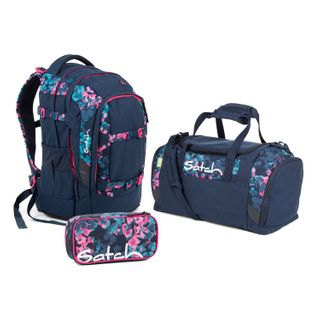 Satch Pack Awesome Blossom Schulrucksack Set 3tlg