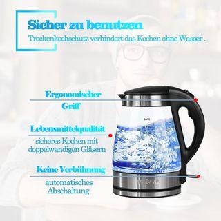 VivReal Glas Wasserkocher