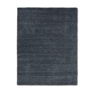 Morgenland Gabbeh Teppich Grau Anthrazit UNI Einfarbig Handgewebt Schurwolle