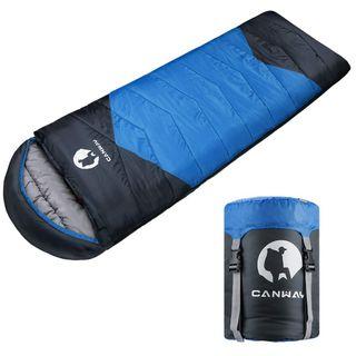 CANWAY Schlafsack Schlafsäcke Mumienschlafsack aus Baumwolle als Füllstoff