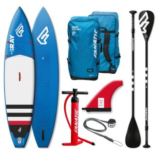 Fanatic Ray Touring Air Inflatable 11.6 Sup Stand up Paddle Board Komplett