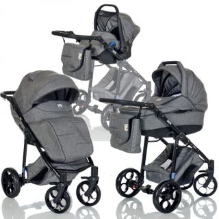 LCP Kids 3-in-1 Kombi-Kinderwagen Set ab Geburt