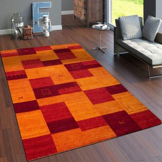 Paco Home Teppich Handgewebt Gabbeh Hochwertig Meliert 100% Wolle