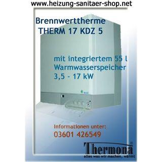 Gastherme Brennwerttherme Gaskombitherme 17 KDZ 5