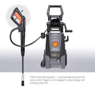 Hochdruckreiniger, 160 Bars 2000W 450L/h, Tacklife Vollkupfermotor Elektrischer Hochdruckreiniger mit Hoher Pumpleistung, Leistungsstarker Hochdruckreiniger für Auto, Haushalt, Garten