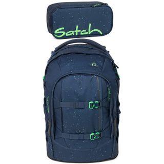 Satch Pack Space Race 2er Set Schulrucksack & Schlamperbox