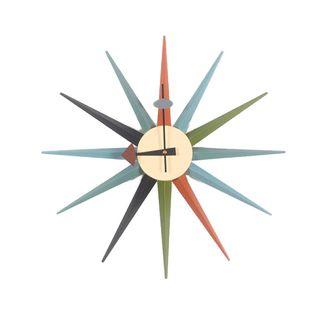 LIYACK George Nelson Style Sunburst Wanduhr Mitte des Jahrhunderts