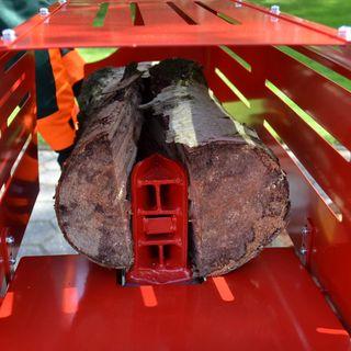Hecht Holzspalter mit Fahrgestell