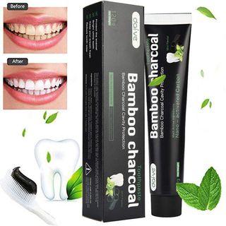 Aktivkohle Zahnpasta-Natürliche Zahnaufhellung und Zahnreinigung
