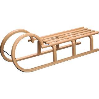 Colint Hörnerschlitten 110 cm Holzschlitten Schlitten Holz Rodel