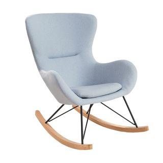 Invicta Interior Design Schaukelstuhl Scandinavia Swing Stoff hellblau