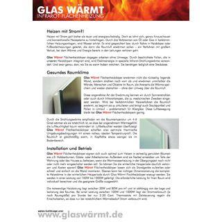 Glas Wärmt Infrarotheizung  60002