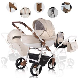Friedrich Hugo Simpligo 3 in 1 Kombi Kinderwagen