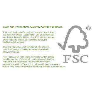 STILISTA Gartendusche Cascata aus 100% FSC zertifiziertem Shorea-Hartholz