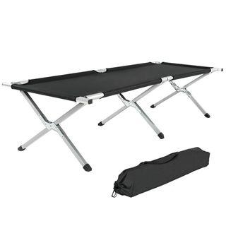 TecTake XL Feldbett Campingbett belastbar bis 150 kg