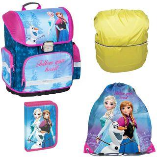 Frozen Anna Elsa Schulranzen Set 4 TLG.Mädchen 1 Klasse Tornister