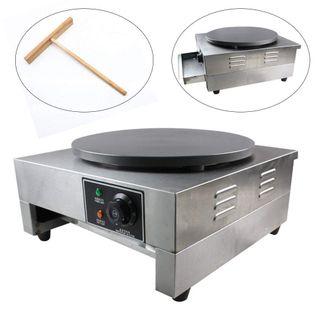 40cm Profi Crepes Eisen und Pfannkuchenmachermaschine 300 °C Crepes