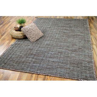 Natur Teppich Bauwolle Kelim Prico Beige Braun in 8 Größen