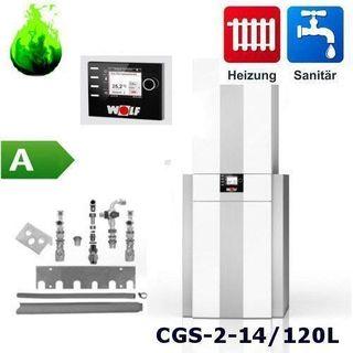Gas-Brennwertherme Wolf Paket CGS-2-14