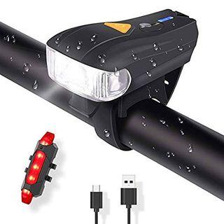 Fahrradlichte Set USB Automatische Lichteinstellung LED Fahrradbeleuchtung