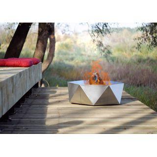 SvenskaV Design-Feuerschale Junda aus Edelstahl