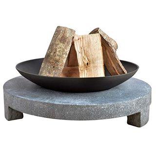Esschert Design Feuerschale Granito runder Sockel