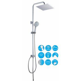 JOHO 304 Edelstahl Duschset Duschsystem Regenduschset