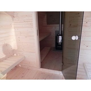 Finnische Fass-Sauna in Igluform
