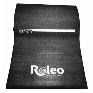 Roleo Dartmatte Teppich Rutschfest schwarz