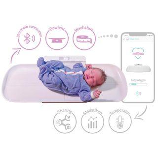 Smartphone-fähige Emiltonia Babywaage inkl. Gratis APP für iOS