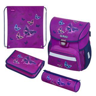 herlitz 50020485 Schulranzen Loop Plus Glitter Butterfly