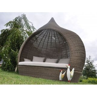 Liegeinsel Eye Catcher Cubu Olive einseitig offen Lounge