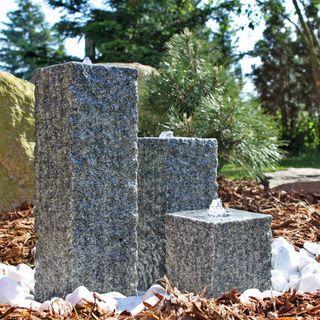 CLGarden Granit Springbrunnen SB2-3 teiliger Säulenbrunnen
