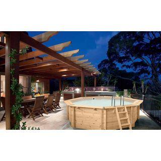 Paradies Pool Holzpool Bali Einzelbecken
