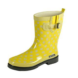 MADSea Damen Gummistiefel Ocean gelb Punkte Halbschaft Regenstiefel