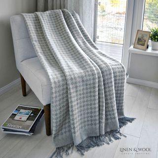 Linen & Cotton Luxus Wolldecke Paris