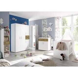 storado.de Babyzimmerset Sienna 8tlg weiß matt asteiche Komplett