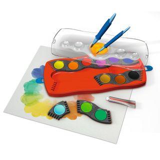 12 od 24 Farben inkl DIN 5023 Deckweiß FABER-CASTELL Farbkasten CONNECTOR