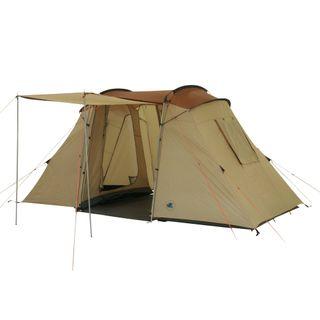 10T Zelt Delano Wood 4 Mann Tunnelzelt Campingzelt Familienzelt