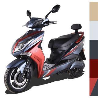 Elektroroller E-Scooter E-Roller Elektro Roller mit Straßenzulassung 45 km/h 60 Kilometer Reichweite, Rot/Schwarz
