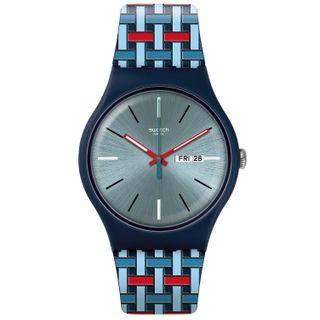 Swatch Herren Analog Quarz Uhr SUON710
