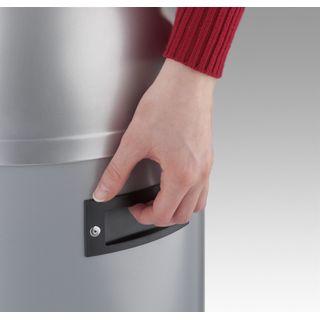 Hailo KickVisier XL Mülleimer aus Edelstahl