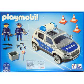 playmobil 9053 polizei-geländewagen mit licht und sound im